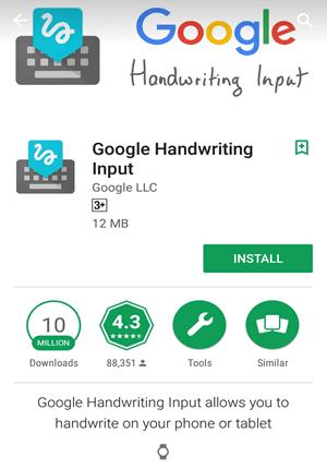 Google Handwriting Input app