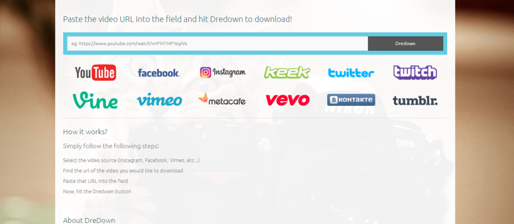 Dredown Instagram downloader
