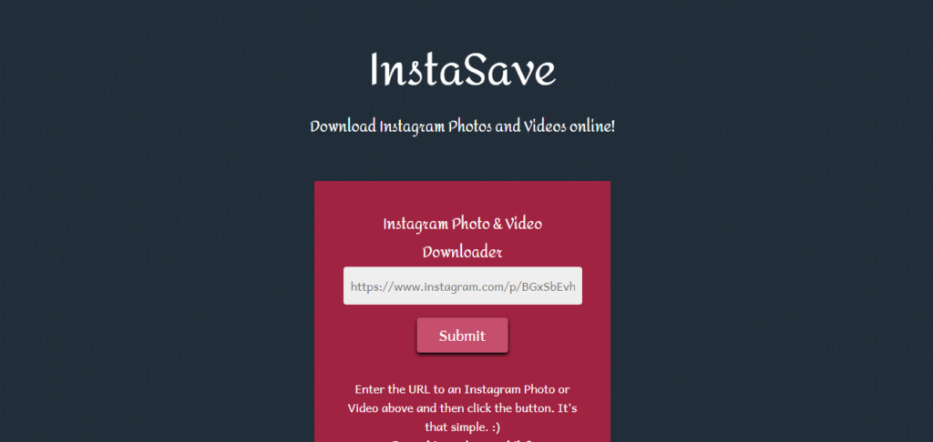 InstaSave Instagram downloader