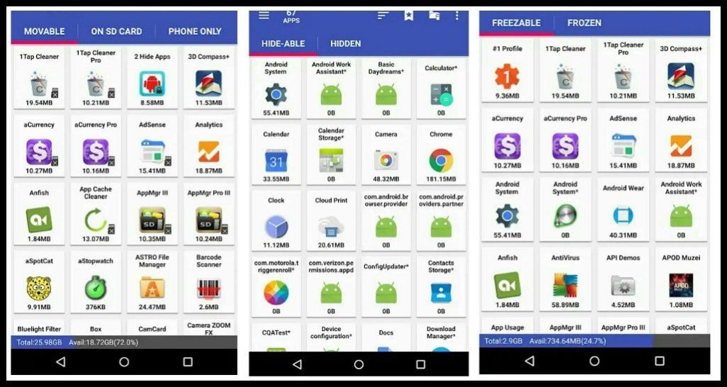 App Mgr III user interface