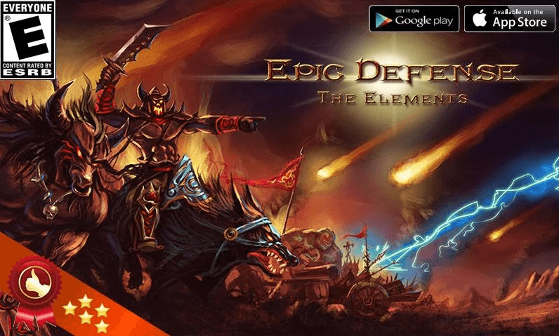 Epic Defense – the Elements app
