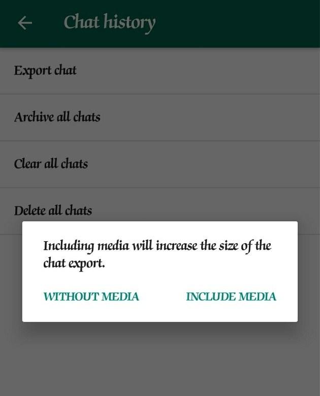 Choose WhatsApp media size