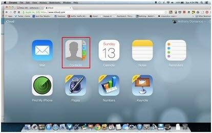 iCloud website interface