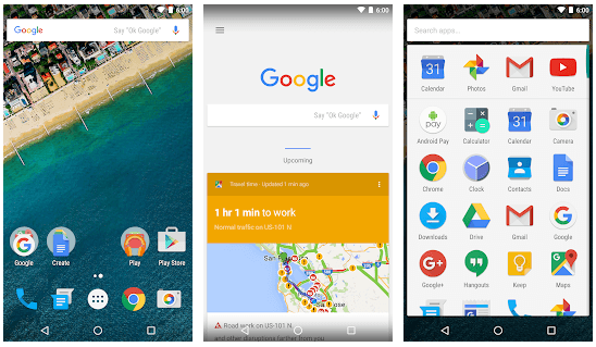 Google Now Launcher app
