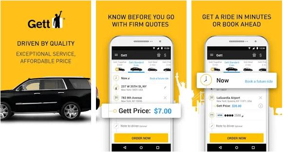 GETT taxi app