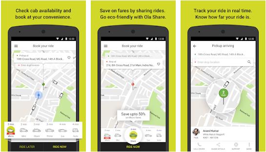 OLA taxi app