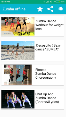 Zumba Dance Exercise Offline app