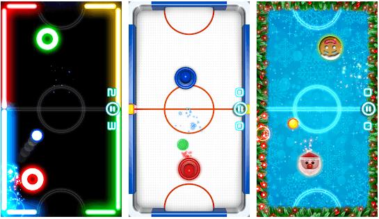 Glow hockey game