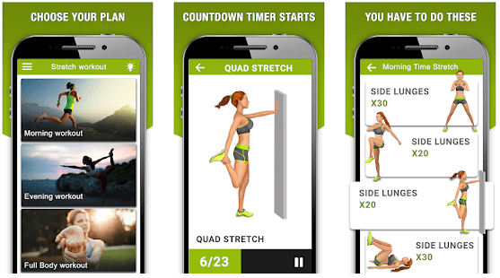 Stretching exercise app for Android