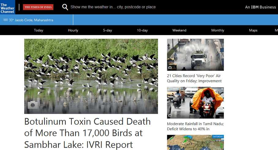 The Weather Channel website