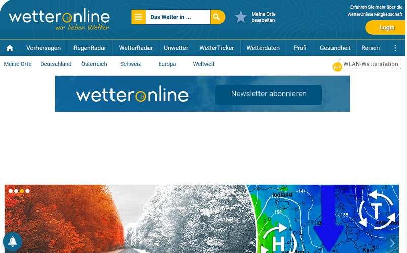 Wetteronline website