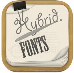 Hybrid Fonts iOS app