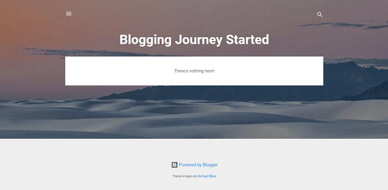 Google Blogger default layout