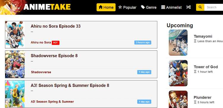 AnimeTake website