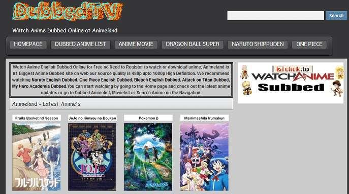 Anime Land website