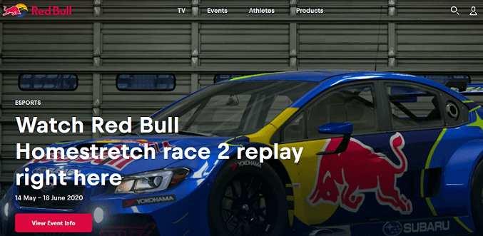 Red Bull TV website