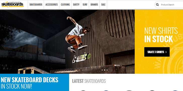 Warehouse Skateboards website