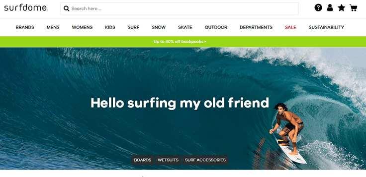 Surfdome website