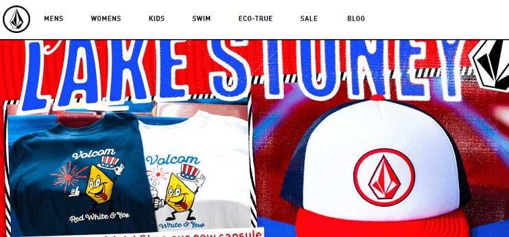 Volcom website