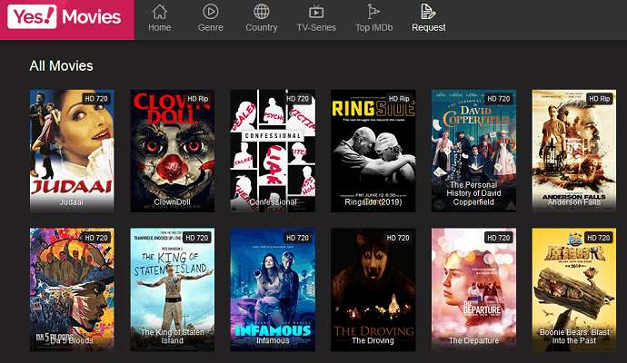 Yes!Movies website