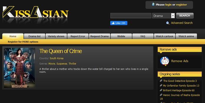 KissAsian website