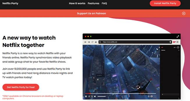 Netflix Party website