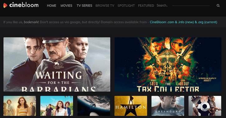 CineBloom website