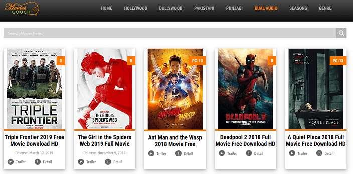 Movie Couch website