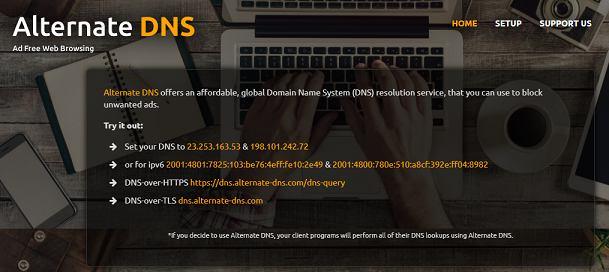 AlternativeDNS website