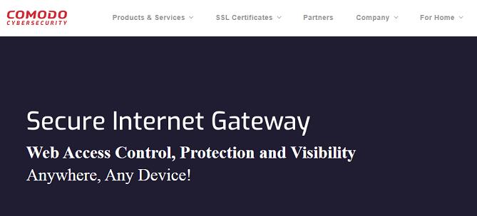 ComodoDNS website