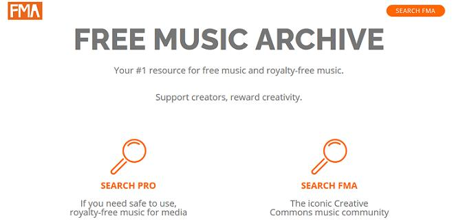 Free Music Archive website