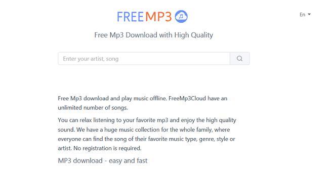 FreeMp3Cloud website