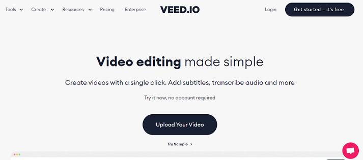 Veed.io website